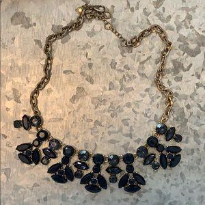 J.Crew navy statement necklace
